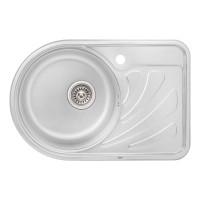 Кухонная мойка Qtap 6744L Satin 0,8 мм (QT6744LSAT08)